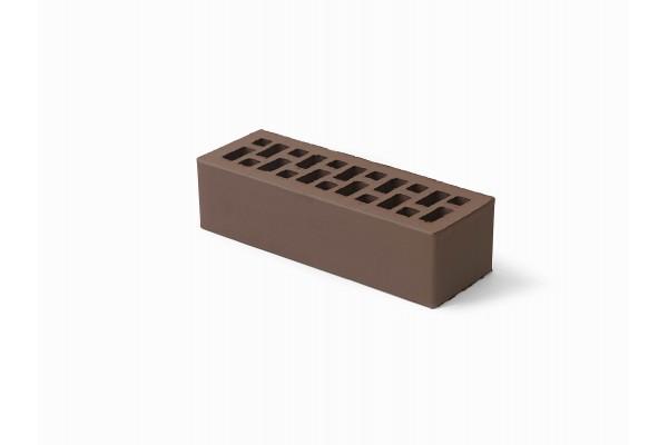 Облицовочный кирпич Браер коричневый гладкий 0,7НФ