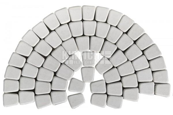 Тротуарная плитка Braer Классико круговая Белый