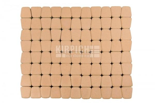Тротуарная плитка Braer Классико круговая Коралловый