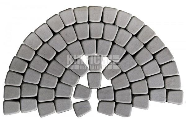 Тротуарная плитка Braer Классико круговая Серый