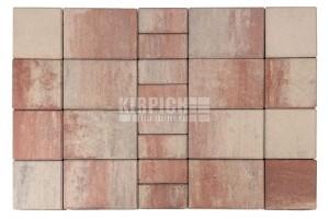 Тротуарная плитка Braer Мозаика Color Mix Фламинго