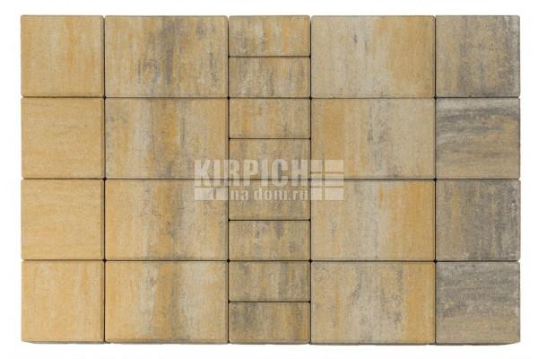 Тротуарная плитка Braer Мозаика Color Mix Песчаник