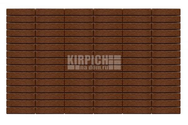 Тротуарная плитка Braer Прямоугольник Коричневый 200х50