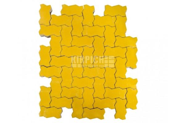 Тротуарная плитка Braer Волна Желтый