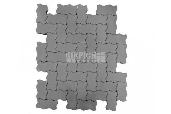 Тротуарная плитка Braer Волна Серый