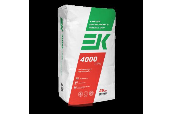 Клей для керамогранита и тяжелых плит ЕК 4000 TITAN