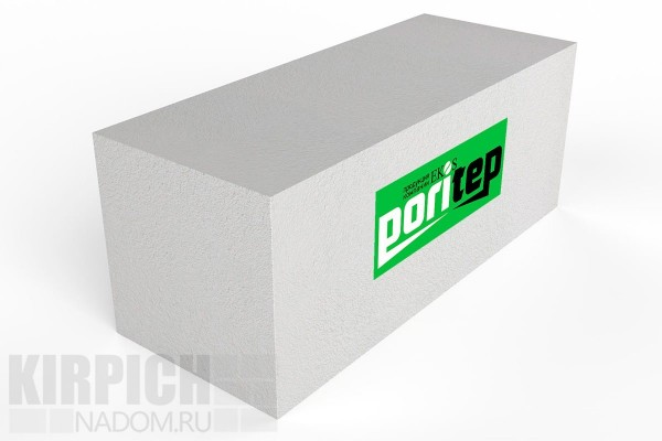 Блок газобетонный стеновой Poritep 625x250x250 D600