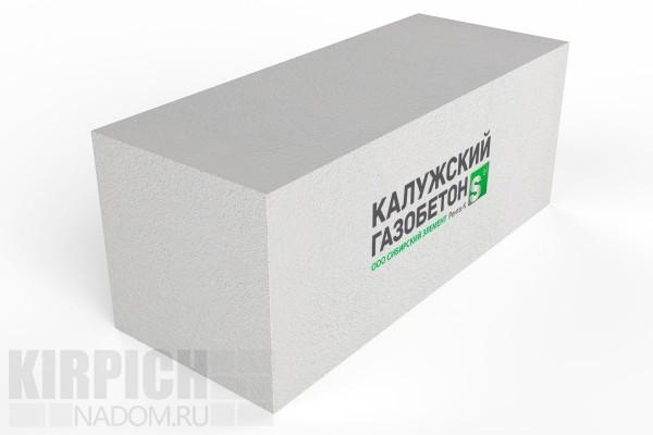 Блок стеновой Калужский газобетон 625x250x250 D400