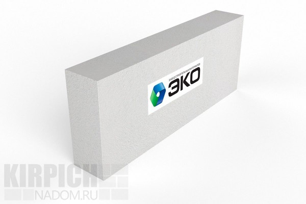 Газобетонный перегородочный блок Эко Ярославль 600x250x125 D600