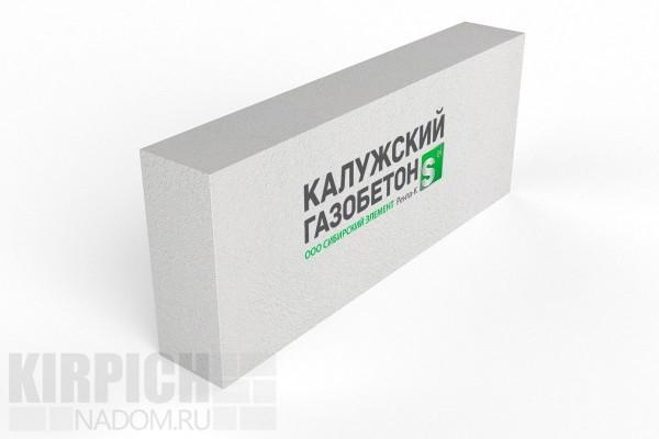 Блок перегородочный Калужский газобетон 625x250x100 D600