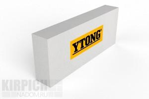 Перегородочный газобетонный блок из ячеистого бетона Ytong 625x250x50 D500 + добор 100