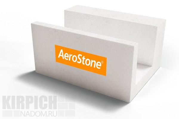 Газобетонный U-блок Aerostone Дмитров 625x250x375 D500