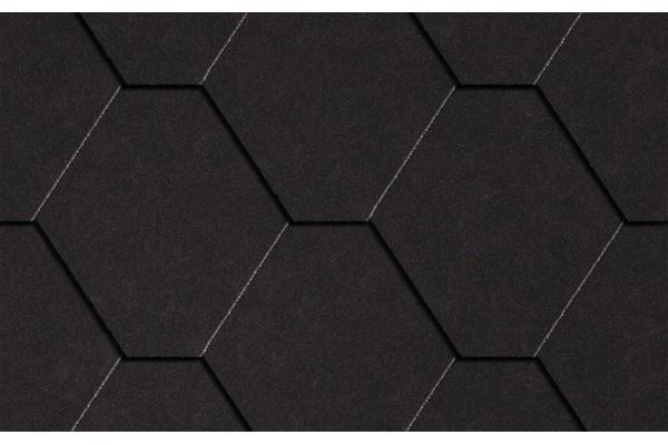 """Гибкая черепица ICOPAL """"Натур"""" граф-черный, 3 кв.м"""