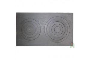 Чугунная кухонная плита двухконфорочная L9