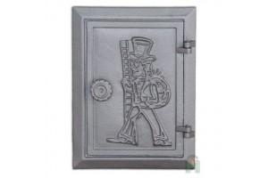 Дверка прочистки с двойной дверцей с узором DKR4