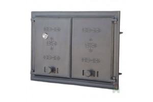 Дверца двустворчатая глухая с термометром DCHP2