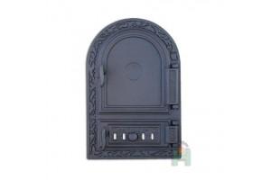 Дверца глухая правая с зольником и шибером DW10R