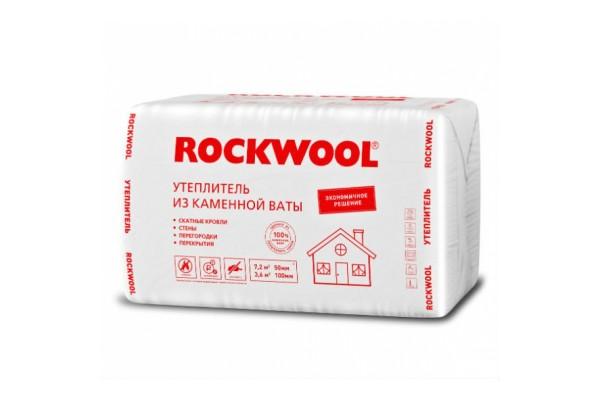 Базальтовая вата Rockwool Эконом 1000х600х50 мм