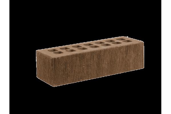 Облицовочный кирпич ЖКЗ темно-коричневый 0,7НФ бархат