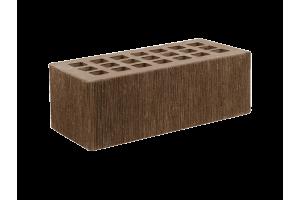 Железногорский облицовочный кирпич темно-коричневый 1,4НФ бархат