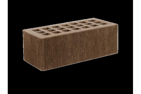 Облицовочный кирпич ЖКЗ темно-коричневый 1,4НФ бархат