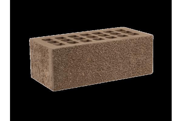 Облицовочный кирпич ЖКЗ темно-коричневый 1,4НФ пена торкретированный