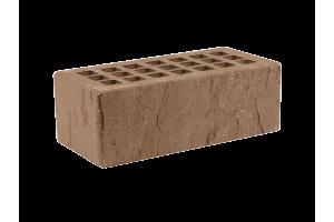Железногорский облицовочный кирпич темно-коричневый 1,4НФ скала торкретированный