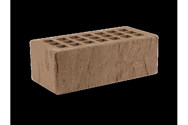 Облицовочный кирпич ЖКЗ темно-коричневый 1,4НФ скала торкретированный