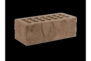 Железногорский облицовочный кирпич темно-коричневый 1,4НФ скала