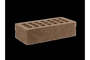 Железногорский облицовочный кирпич темно-коричневый 1НФ пена торкретированный