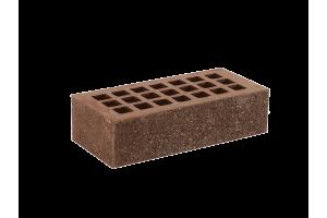 Железногорский облицовочный кирпич темно-коричневый 1НФ пена-алмаз торкретированный