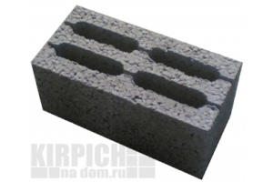 Блоки керамзитобетонные 4-х пустотные