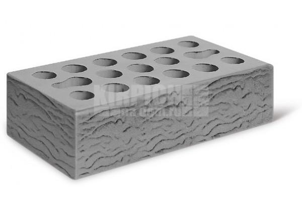 Облицовочный кирпич Керма серебро риф 1НФ