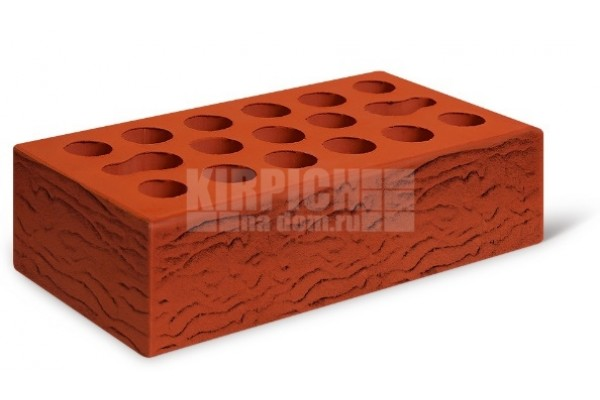Кирпич лицевой Классический красный риф 1 НФ Керма