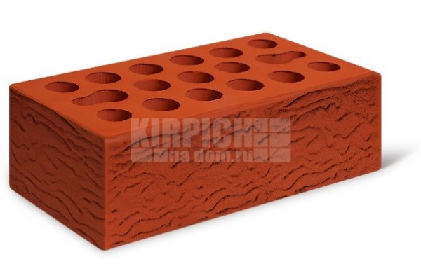Кирпич лицевой Классический красный риф 1,4 НФ Керма