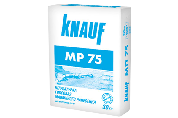 Гипсовая штукатурка Кнауф МП 75 машинного нанесения, 30 кг