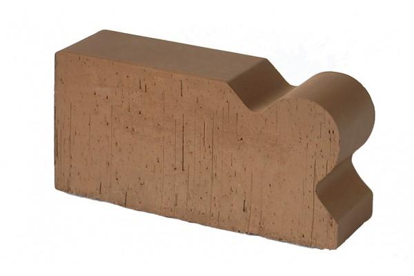 Кирпич фигурный полнотелый Lode Brunis F20 гладкий 250*120*65 мм