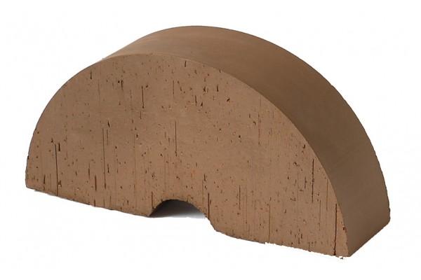 Печной кирпич полнотелый фигурный радиальный Lode Brunis гладкий, 250*121*65 мм