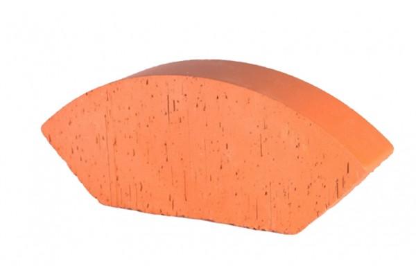 Печной кирпич полнотелый фигурный радиальный усеченный Lode Janka гладкий, 189*120*65 мм