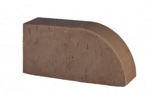 кирпич полнотелый радиусный Lode Brunis F17 гладкий 250*120*65 мм