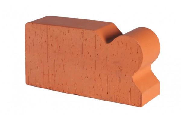Печной кирпич полнотелый фигурный Lode Janka F20 гладкий 250*120*65 мм