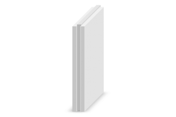 Гипсовая пазогребневая плита Магма полнотелая, 80 мм