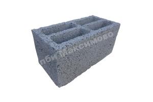 Блок керамзитобетонный пустотелый стеновой 390-190-188 мм ПБИ Максимово
