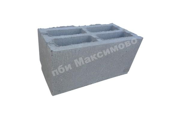 Блок пескобетонный 4-х пустотный стеновой 390-190-188 мм ПБИ Максимово