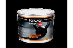 Краска полиуретановая для бетона Топслой Краска, 3 кг