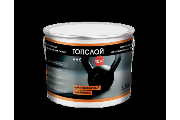 Лак-пропитка полиуретановый для бетона Топслой Лак, 3 кг
