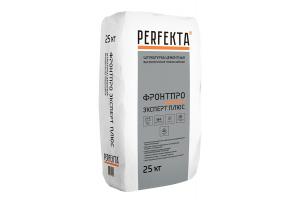 Штукатурка цементная тонкослойная усиленная Perfekta Фронтпро Эксперт Плюс, 25 кг