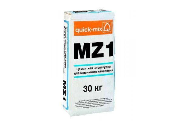Цементная штукатурка для машинного нанесения MZ 1 Quick-mix