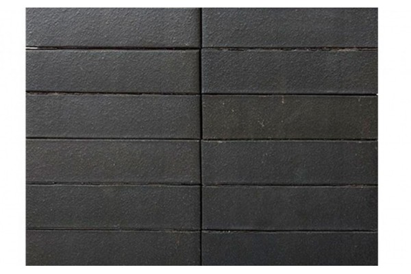 Облицовочный кирпич TERCA Klinker GRAFIT гладкий FAT 0,7НФ черный