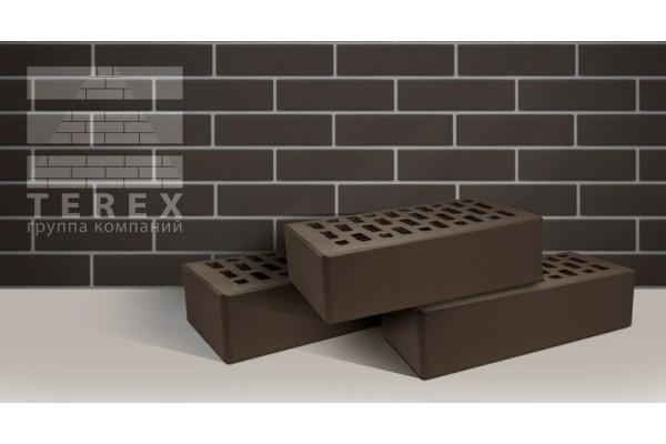 Облицовочный кирпич Terex какао гладкий 1НФ